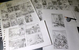 Pirates 'n Cowboys: First round of thumbnails from my smArt School class
